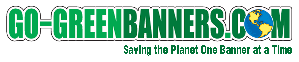 Go-Green Banners Logo | Saving the Planet One Banner at a Time