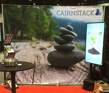 Cairnstack | 10ft Grommet-Free Backdrop | Backdrops | Go Green Banners