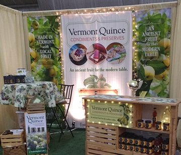Vermont Quince | 3ft Trade Show Banners | Go Green Banners