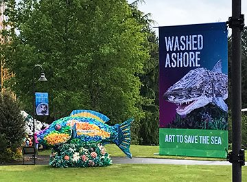 Point Defiance Zoo - Shark | Go Plastic-Free To Save Our Sea | Fabric Banner | Banners | Go Green Banners